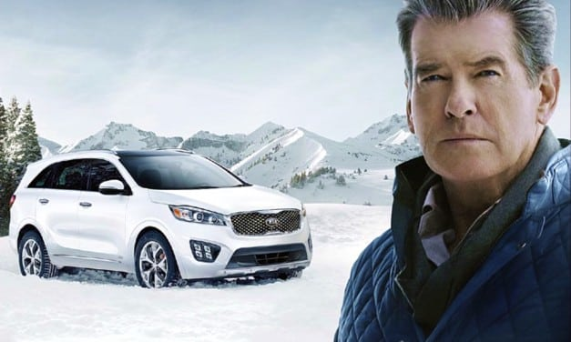 Brosnan At The Superbowl In A Sorento