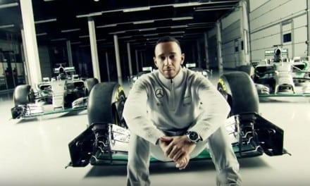 Lewis Hamilton and his new 2016 Mercedes