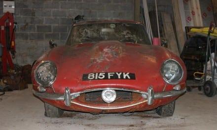 Jaguar E-Type Beatles Barn Sell for £57,900