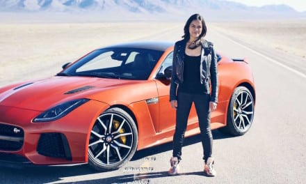 Michelle Rodriguez and Jaguar F-TYPE SVR