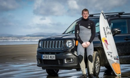 Jeep Catches Big Wave Surfer Andrew Cotton