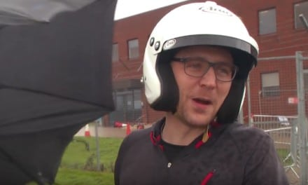 Tom Hiddleston in Vauxhall's Reasonably Priced Car (in the rain) that you can buy on Ebay