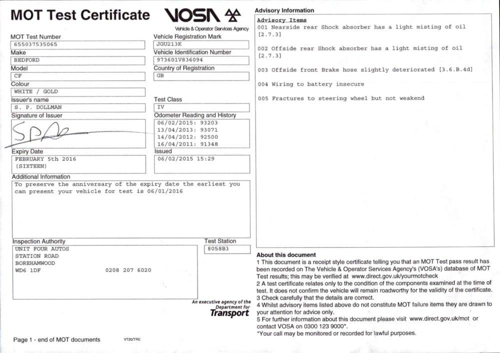 Roadworthy Certificate Cost >> Win Eddie The Eagle's Van - Free Car Mag