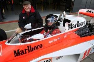 Murray Walker and Freddie Hunt 300x200 - Murray Walker and Freddie Hunt