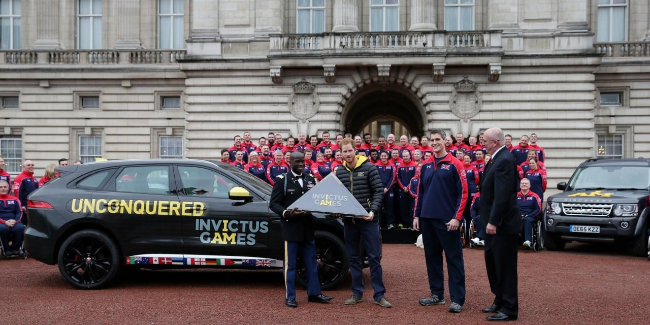 PRINCE HARRY UNVEILS THE INVICTUS GAMES UK TEAM AT BUCKINGHAM PALACE