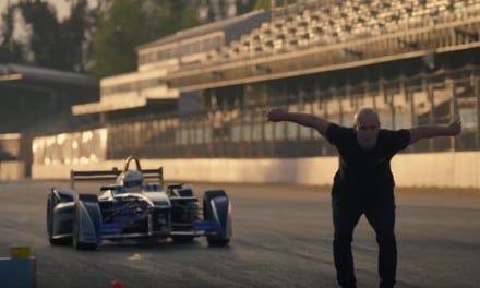 Man vs Formula E car