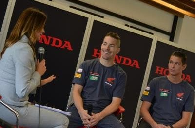 Suzi Perry interviews Honda Stars
