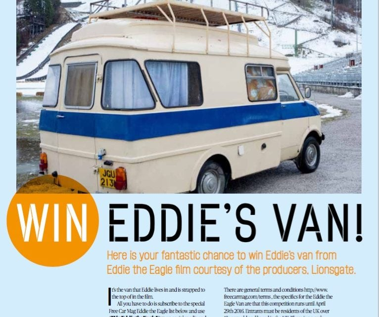 Eddie the Eagles Van – Winner on the Radio today