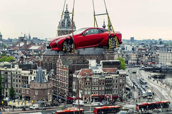 Lexus over Amsterdam