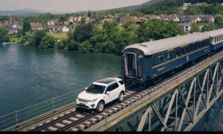 Land Rover Discovery Sport vs 100 tonne train