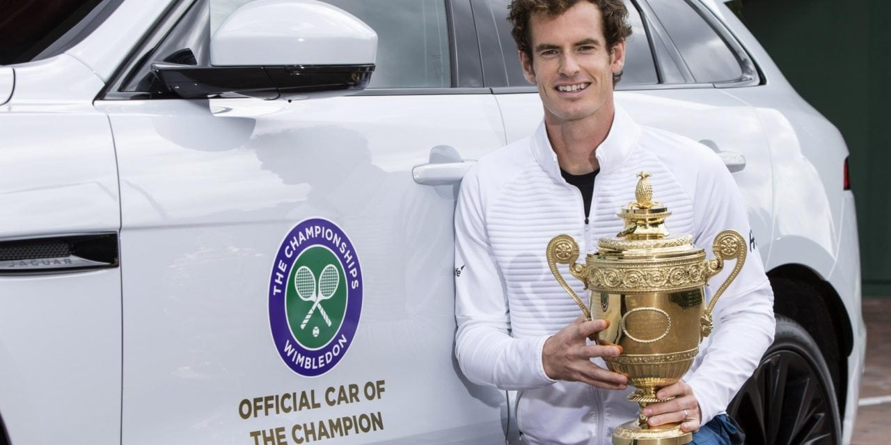 Andy Murray's official winners car is a jaguar F-Pace