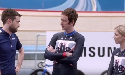 Sir Bradley Wiggins and Jack Whitehall and Becky James get cycling for Rio…