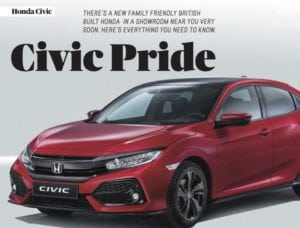 Honda Civic 300x228 - Honda Civic Featured in latest Free Car Mag now the amazing Type R prototype revealed