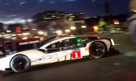 Mark Webber takes to the streets of London in the Porsche 919
