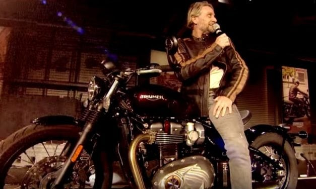 Triumph Bonneville Bobber – launched with Carl Fogerty and friends