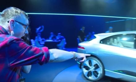 Jaguar iPace Concept Celebrity Launch brings crowd to a standstill…