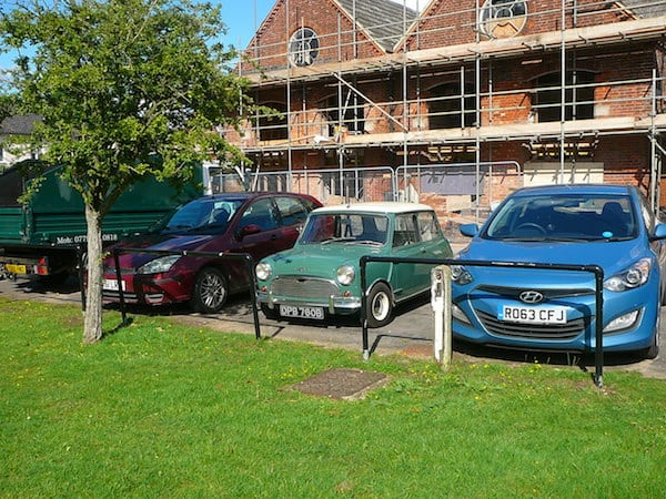 MODERN CARS ARE TOO BIG FOR BRITAIN'S AGEING PARKING SPACES