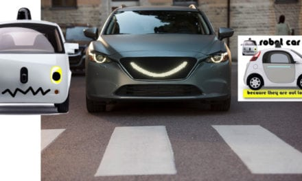 Robot Cars – Don't worry they are only smiling at you…