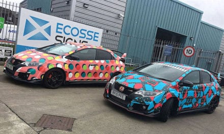 Honda Civics Wrapped by 3M and Ecosse Signs for Kaiser Chiefs Video