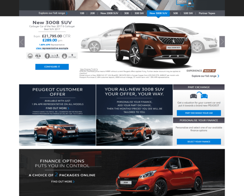 Peugeot World First – Buy a Pug completely online