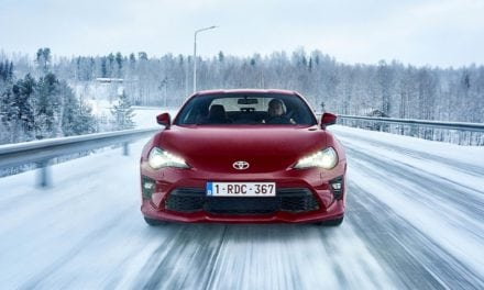 Toyota GT86 in the snow.