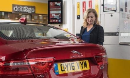 Jaguar XE   World First In-Car Cashless Fuel Payment