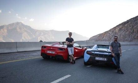 Racing driver Oliver Webb takes a Ferrari 488 Spider to Ras Al Khaimah