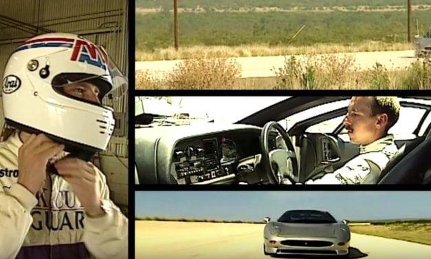 Bridgestone develops tyres for Jaguar XJ220
