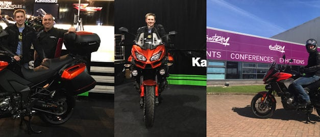 Olympic Champion, Jason Kenny OBE collects brand‑new Kawasaki Versys 1000 Grand Tourer