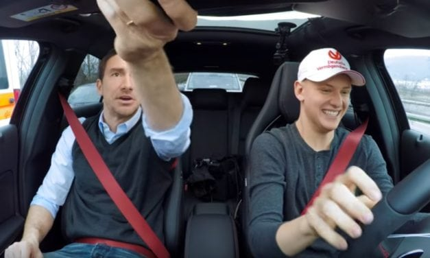Mick Schumacher gets his driving licence, part one…