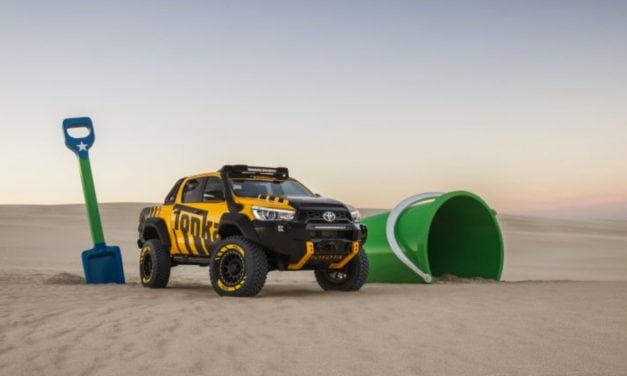 Toyota HiLux Reborn as a Tonka Toy