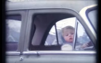 Toddler Drives Vauxhall