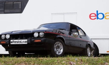 Ebay Restoration Live at Silverstone Classic with a Capri