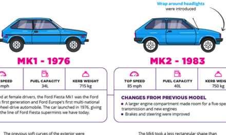 Money Supermarket's Groovy Ford Fiesta Infographic