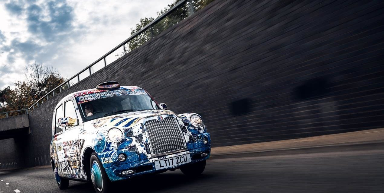 Black cab provides white canvas for celebration of Coventry's 2021 bid
