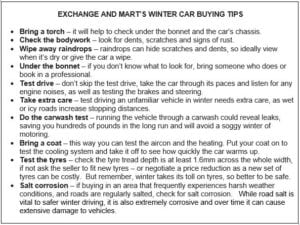 ExchangeandMartchart 300x225 - WINTER CAR BUYERS CAN BAG A BARGAIN SAYS EXCHANGE & MART