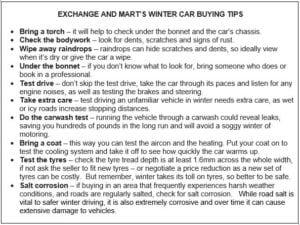 ExchangeandMartchart 300x225 - WINTER CAR BUYERS CAN BAG A BARGAIN SAYS EXCHANGE & MART