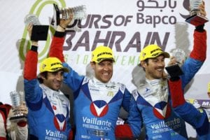 Nicolas Prost Celebrating WEC Title 300x200 - Nicolas Prost wins FIA LMP2 World Endurance Title