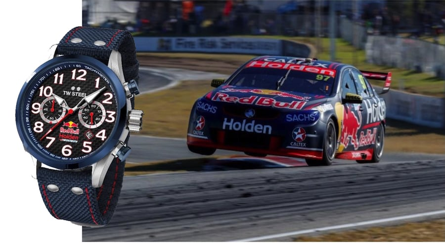 T W Steel and Red Bull Holden a proper car watch for Christmas