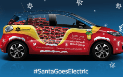 Santa test-drives his new electric sleigh with Renault