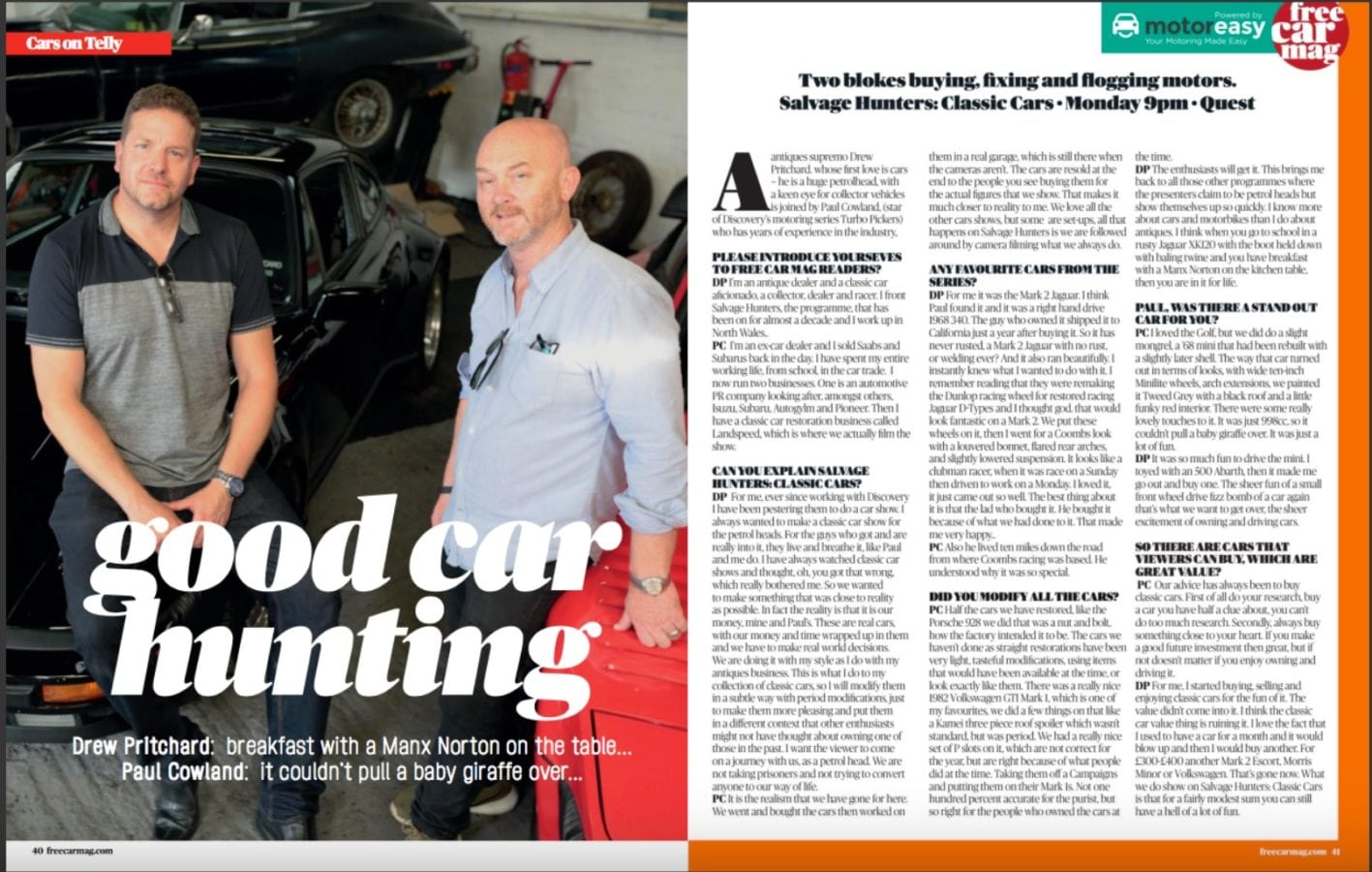 salvage hunters classic cars the interview free car mag. Black Bedroom Furniture Sets. Home Design Ideas