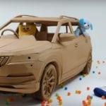 Cardboard Skoda Karoq designed by kids…