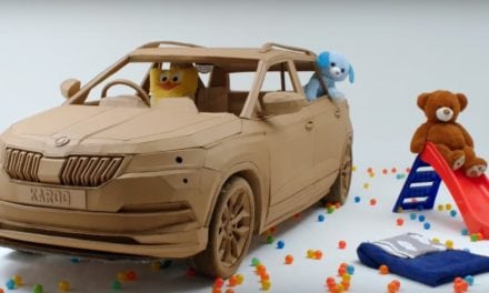 Cardboard Skoda Karoq designed by kids…