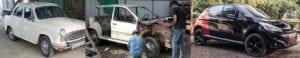 Ambassador 208 GTi Montage copy 300x58 - PEUGEOT remodels a Hindustan Ambassador into a  208 GTi