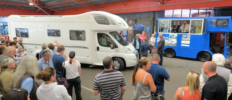 Over 100 Caravans and Motorhomes on offer at BCA Nottingham
