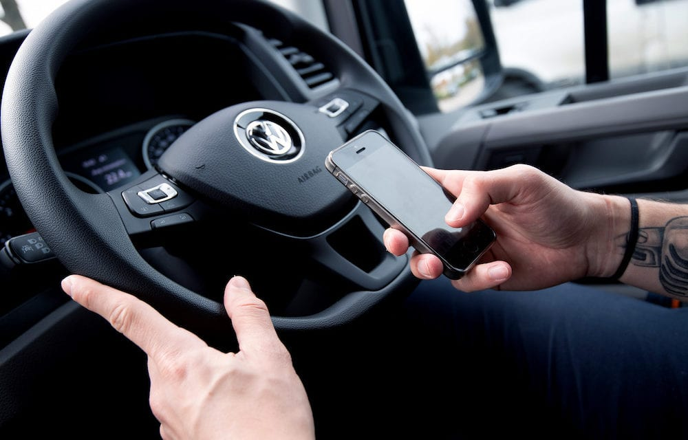 OVER HALF OF VAN DRIVERS RISK FINE FOR USING MOBILE PHONES Says Volkswagen Vans