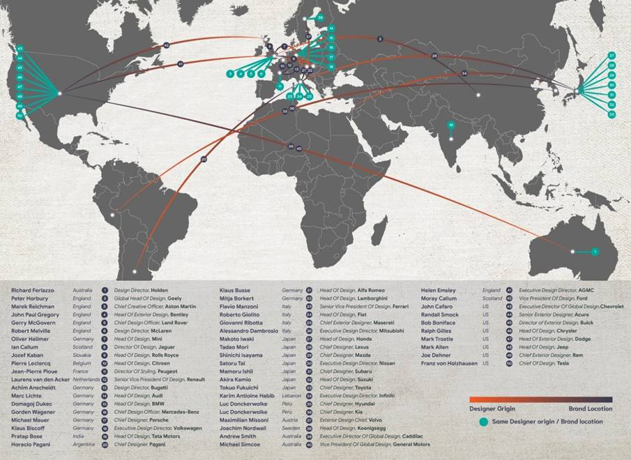 Map of the Car Design World according to Select Car Leasing ... Designer World Map on world map tester, world map costume, world map dresses, world map size, world map vintage, world map modern, world map business, world map gold, world map bedroom decor, world map retail, world map illustrator, world map cook, world map color, world map creator, world map sports, world map rain, world map photography, world map teacher, world map design, world map name,