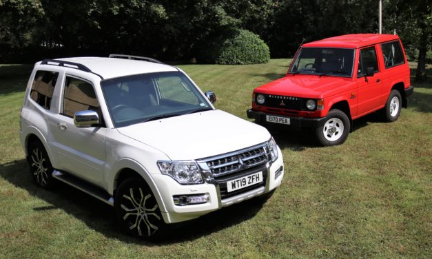 FINAL MITSUBISHI SHOGUN OFFICIALLY IMPORTED INTO THE UK JOINS THE MITSUBISHI MOTORS IN THE UK HERITAGE FLEET
