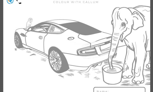 Colour your very own Aston and you might win a prize!