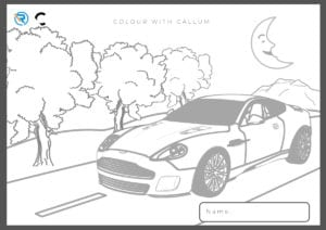 Page 2 300x212 - Colour your very own Aston and you might win a prize!